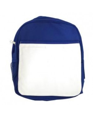 Bags - Backpacks - Large School Bag with Panel - Blue