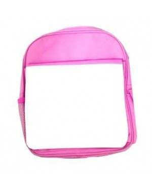 Bags - Backpacks - Large School Bag with Panel - Pink