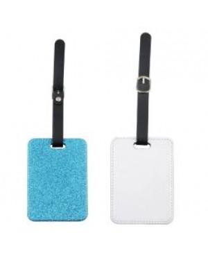 Luggage Tag - PU Glitter - Blue