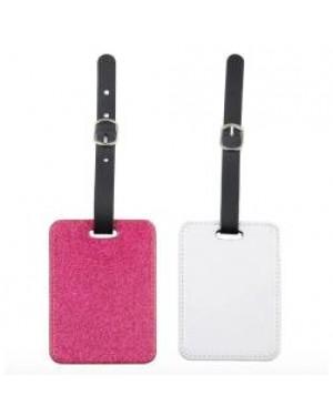Luggage Tag - PU Glitter - Pink