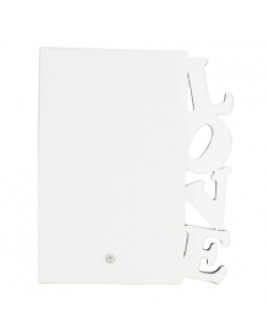 """Photo Panel - MDF 'Love' Photo Frame with Stand - 5"""" x 7"""