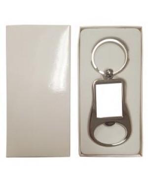 Keyring - 10 x Metal Keyring - Bottle Opener - Rectangle