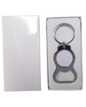 Keyring - 10 x Metal Keyring - Bottle Opener - Round