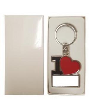 "Keyring - 10 x Metal Keyring - ""I Love"" Heart"