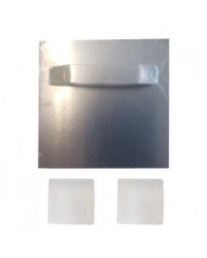 Metal Shadow Mount and Plastic Bumpers for Hanging Sublimation Sheets to Walls