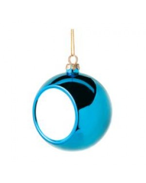 Ornaments - Christmas Bauble with Printable Insert - Light Blue
