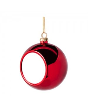 Ornaments - Christmas Bauble with Printable Insert - Red