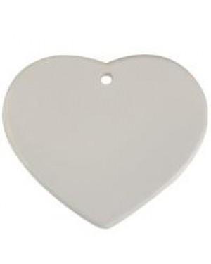 Ornaments - 10 x Ceramic Hanging Ornament - Heart