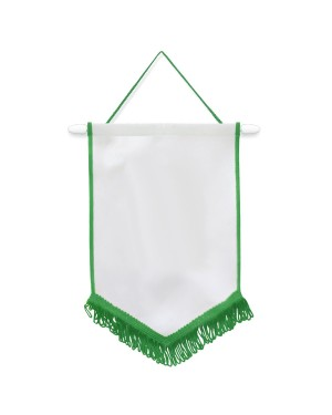 Flags & Banners - Pack of 10 x Pennant - 18cm x 26cm - GREEN