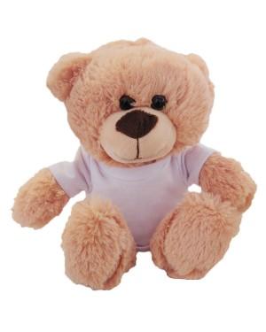 Soft Toys - Cream Teddy Bear with Printable T-Shirt