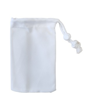 Premium Drawstring with Stopper - Canvas - White - 15cm x 20cm