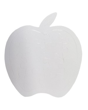 Jigsaw Puzzles - Apple (16 pieces) - Cardboard - Pearl Finish