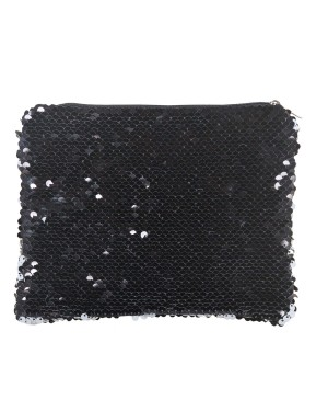 Sequin Purse/ Pouch - 15cm x 20cm - BLACK