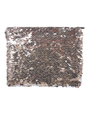 Sequin Purse/ Pouch - 15cm x 20cm - CHAMPAGNE GOLD