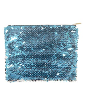 Sequin Purse/ Pouch - 15cm x 20cm - LIGHT BLUE