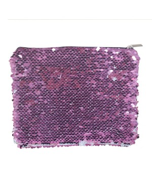 Sequin Purse/ Pouch - 15cm x 20cm - PINK