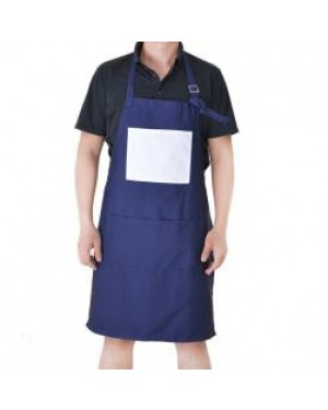 Apron With Pocket - Adult - Blue