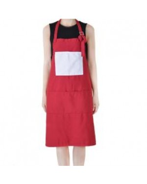 Apron With Pocket - Adult - Red