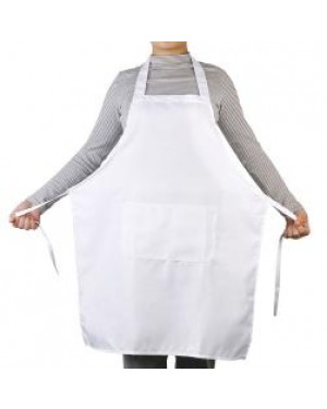 Apron With Pocket - Adult - White