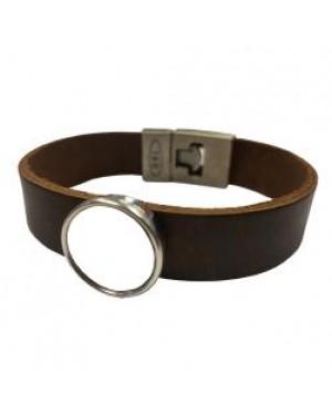 Jewellery - Bracelet - Leather Style Bracelet - Brown