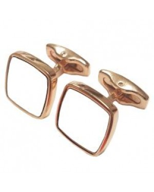 Cufflinks - Premier Range - Rose Gold - Curved Square - Pair