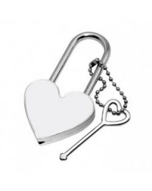 Metal Heart Lock with Printable Insert