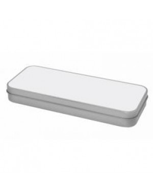 Tins - Stationery and Pencil Tin - Silver