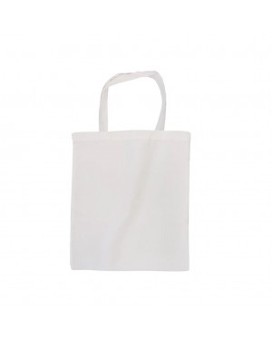 Tote Bag - SMALL - Canvas White - 26cm x 34cm - Short Handles