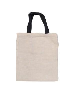 Bags - LINEN - Tote Bag with Short Black Handles - 37cm x 42cm