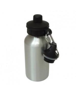 Water Bottles - Two Lids - 400ml - Silver