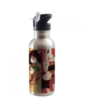 Water Bottles - Integrated Straw - 600ml - Silver