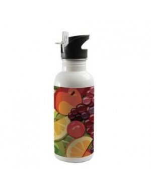 Water Bottles - Integrated Straw - 600ml - White