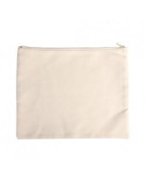 Bags - Pouch with Zipper - Canvas Texture - 22cm x 18cm