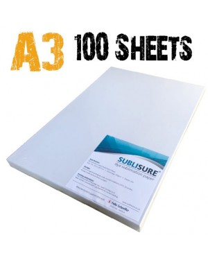 Sublisure A3 Sublimation Paper 100 Sheets