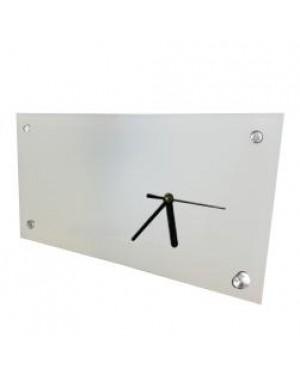 Clock - Glass - 30cm x 16cm Desk Clock