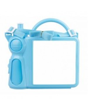 Lunchbox - Plastic - Water Bottle and Handle - Blue