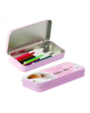 Stationery metal tin Pink for sublimation