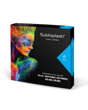 Cyan Sublisplash ink cartridge 31ml