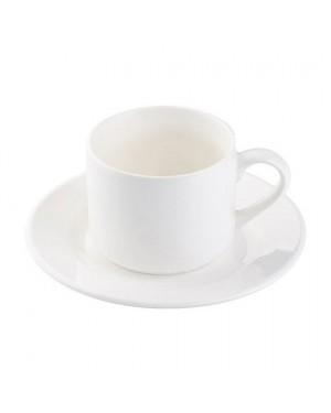 Sublimation 5oz Ceramic Tea Cup and Saucer Blank