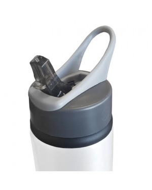 650ml White Water Bottle with Straw for Sublimation